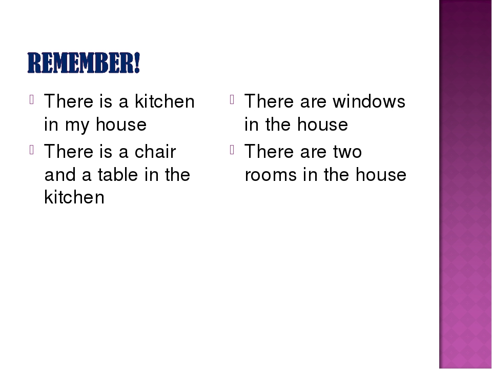 There is a kitchen in my house There is a chair and a table in the kitchen Th...