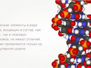 Химические элементы в виде атомов, входящих в состав, как живых, так и неживы
