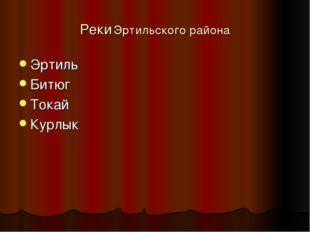Реки Эртильского района Эртиль Битюг Токай Курлык