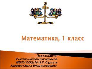 Подготовила: Учитель начальных классов МБОУ СОШ №19 Г. Сургута Хазеева Ольга