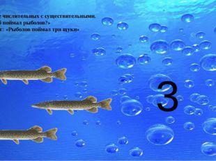 «Рыболов» Согласование числительных с существительными. «Сколько рыб поймал