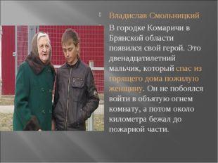Владислав Смольницкий В городке Комаричи в Брянской области появился свой гер