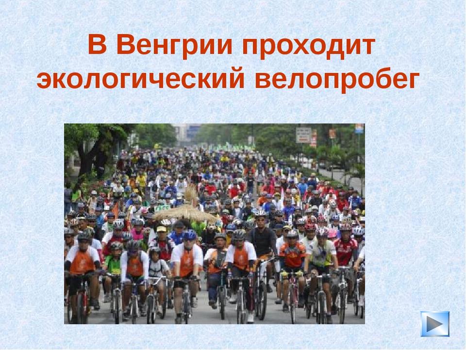 * В Венгрии проходит экологический велопробег