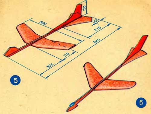 Простой самолет из пенопласта своими руками