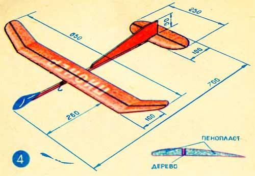 Как сделать летающий самолёт своими руками в домашних условиях 80