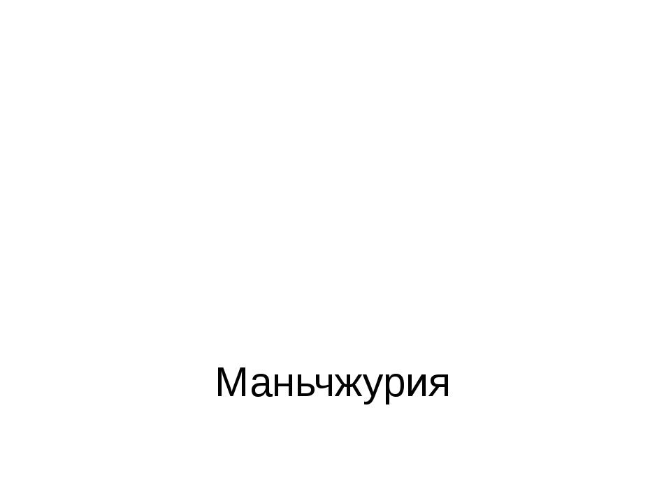 Маньчжурия