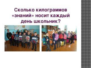Сколько килограммов «знаний» носит каждый день школьник?