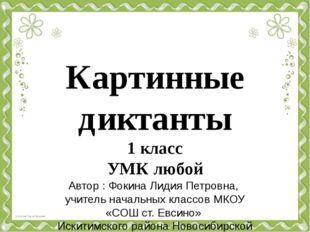 Картинные диктанты 1 класс УМК любой Автор : Фокина Лидия Петровна, учитель н