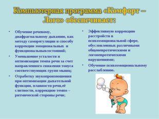 Обучение речевому, диафрагмальному дыханию, как методу саморегуляции и способ