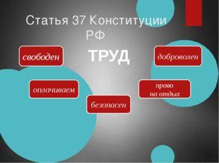 Статья 37 Конституции РФ свободен оплачиваем безопасен право на отдых доброво