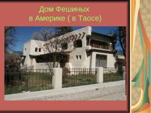 Дом Фешиных в Америке ( в Таосе)