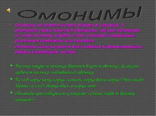 Омонимы не имеют ничего общего в значении. У омонимов слова пишутся одинаково