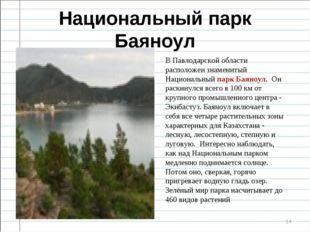 Национальный парк Баяноул * В Павлодарской области расположен знаменитый Наци