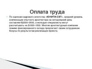 Пооценкам кадрового агентства«ЮНИТИ-СЭТ», средний уровень компенсации опытн