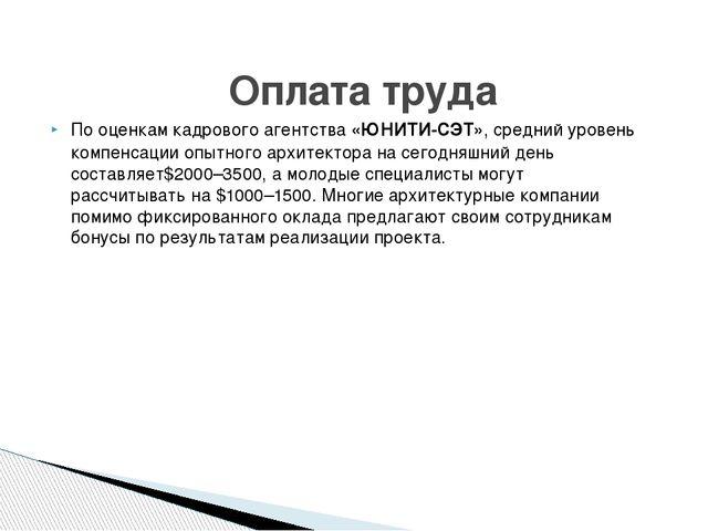 Пооценкам кадрового агентства«ЮНИТИ-СЭТ», средний уровень компенсации опытн...