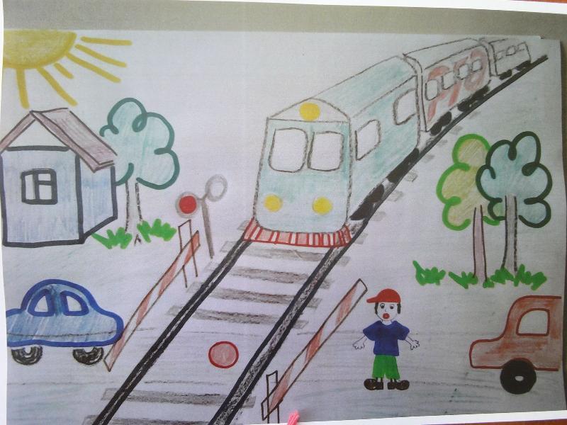 Железная дорога в детских картинках