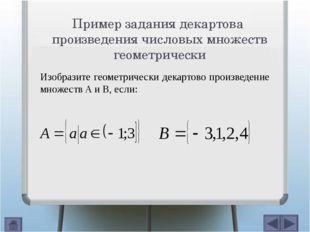 Пример задания декартова произведения конечных множеств геометрически x y 4