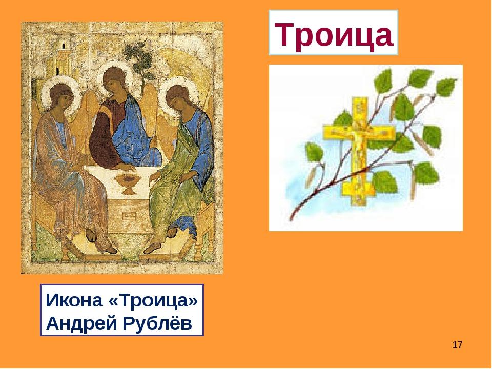 * Троица Икона «Троица» Андрей Рублёв