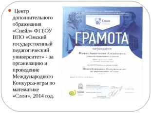 Центр дополнительного образования «Снейл» ФГБОУ ВПО «Омский государственный