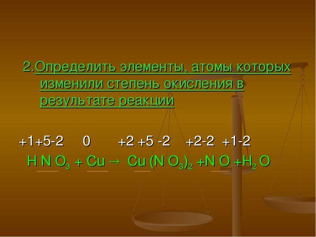 2.Определить элементы, атомы которых изменили степень окисления в результате...