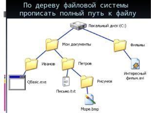 По дереву файловой системы прописать полный путь к файлу Море.bmp