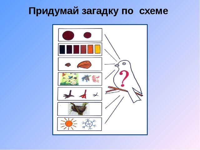 Придумай загадку по схеме