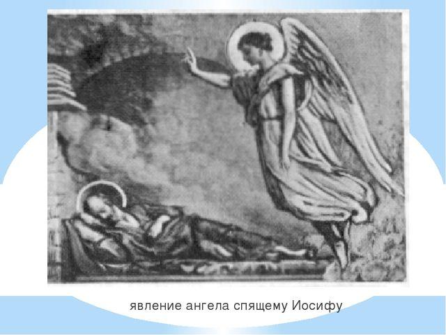 явление ангела спящему Иосифу