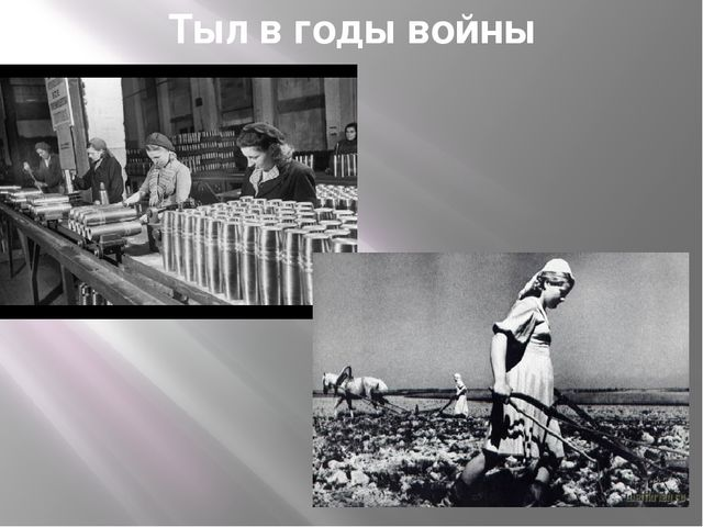 Тыл в годы войны