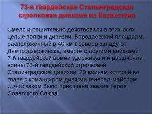 Смело и решительно действовали в этих боях целые полки и дивизии. Бородаевски