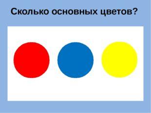 Сколько основных цветов?