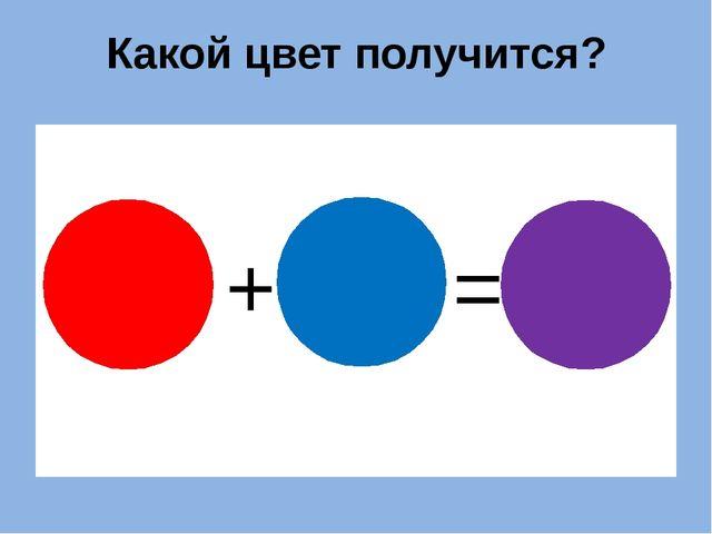Какой цвет получится? + = ?
