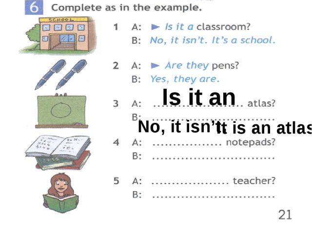 Is it an No, it isn't. It is an atlas.