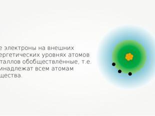 Все электроны на внешних энергетических уровнях атомов металлов обобществлённ