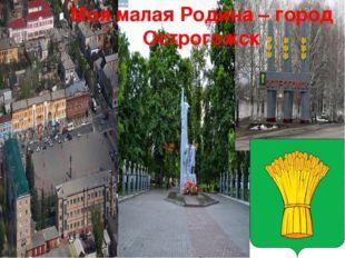 Моя малая Родина – город Острогожск