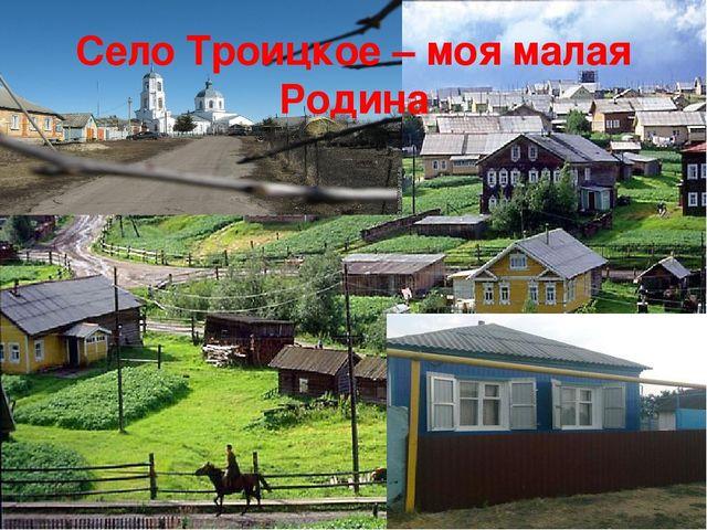 Село Троицкое – моя малая Родина