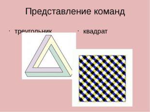 Представление команд треугольник квадрат