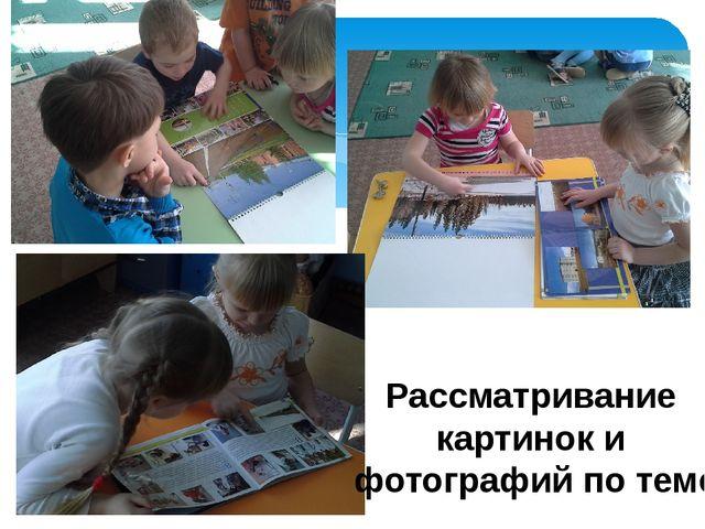 Рассматривание картинок и фотографий по теме