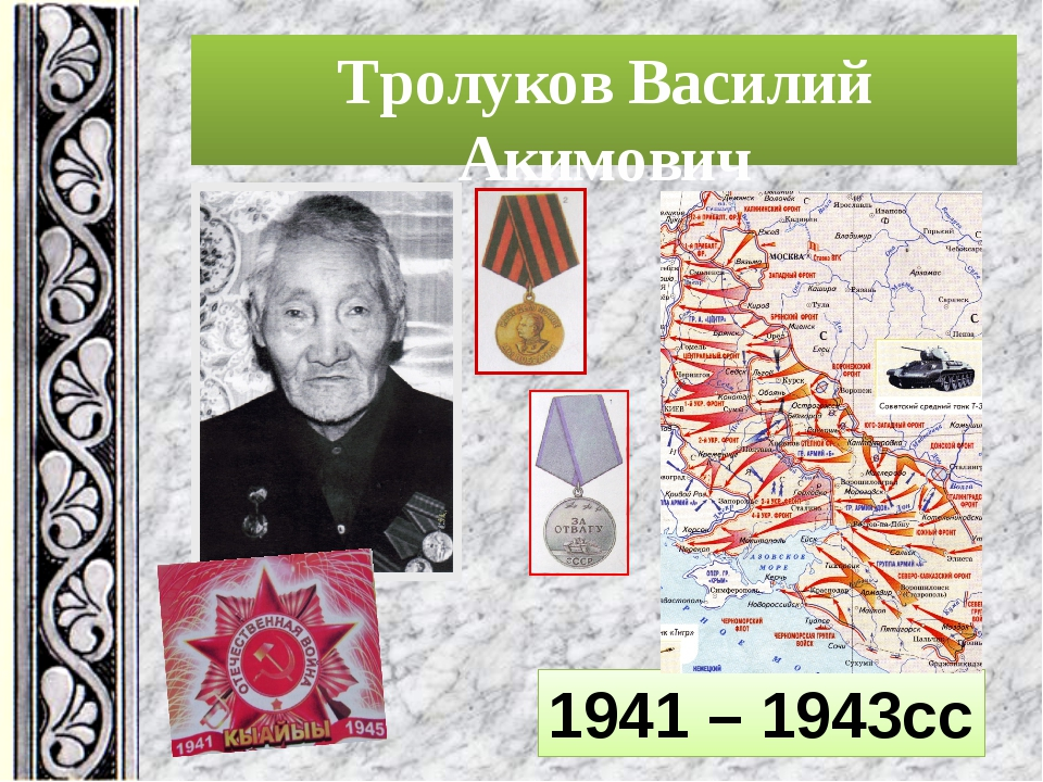 Тролуков Василий Акимович 1941 – 1943cc