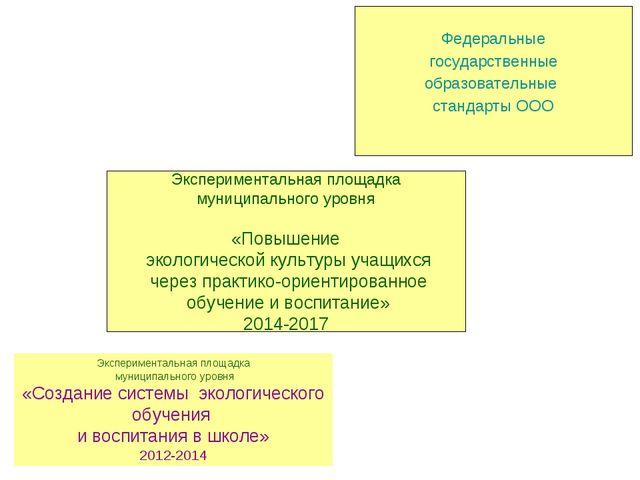 Экспериментальная площадка муниципального уровня «Создание системы экологиче...