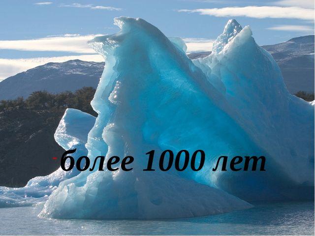 более 1000 лет
