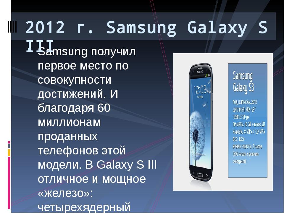 Samsung получил первое место по совокупности достижений. И благодаря 60 милли...