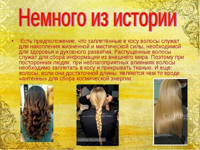Есть предположение, что заплетённые в косу волосы служат для накопления жизн...