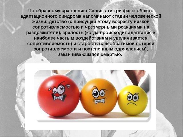 По образному сравнению Селье, эти три фазы общего адаптационного синдрома нап...