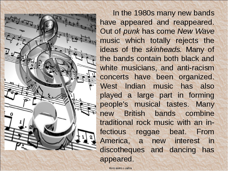 In the 1980s many new bands have appeared and reappeared. Out of punk has co...