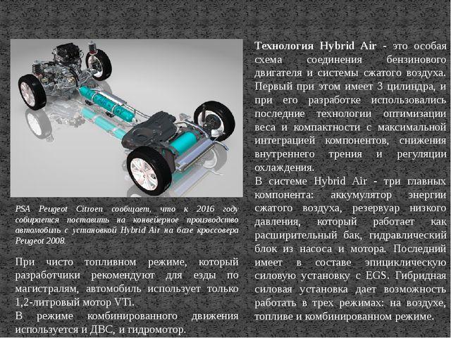 Технология Hybrid Air - это особая схема соединения бензинового двигателя и с...