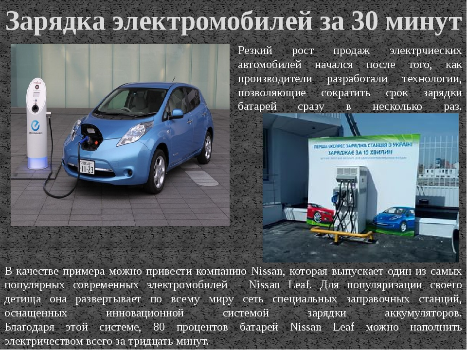 Зарядка электромобилей за 30 минут Резкий рост продаж электрчиеских автомобил...