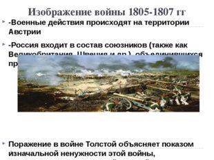 Изображение войны 1805-1807 гг -Военные действия происходят на территории Авс