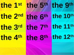 the 1st the 5th the 2nd the 3rd the 4th the 6th the 7th the 8th the 9th the 1