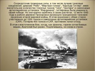 Сосредоточив громадные силы, в том числе лучшие танковые соединения: дивизии