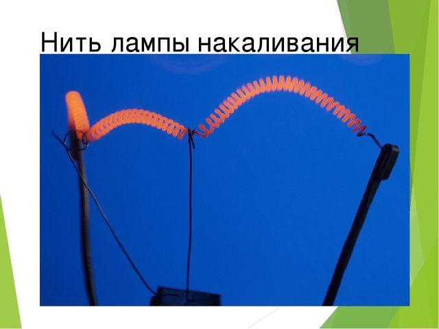 Нить лампы накаливания